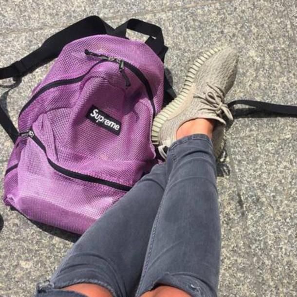 07561fe1661 bag, supreme, backpack, purple