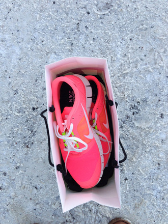 shoes nike neon pink neon pink ridge run roshe runs nike roshe run roshes highlighter highlighter yellow running shoes running sneakers nikes