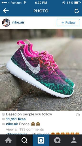 shoes pink nike roushe nike air roushe