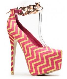 Ravish pink chain stiletto – shophouseofsole