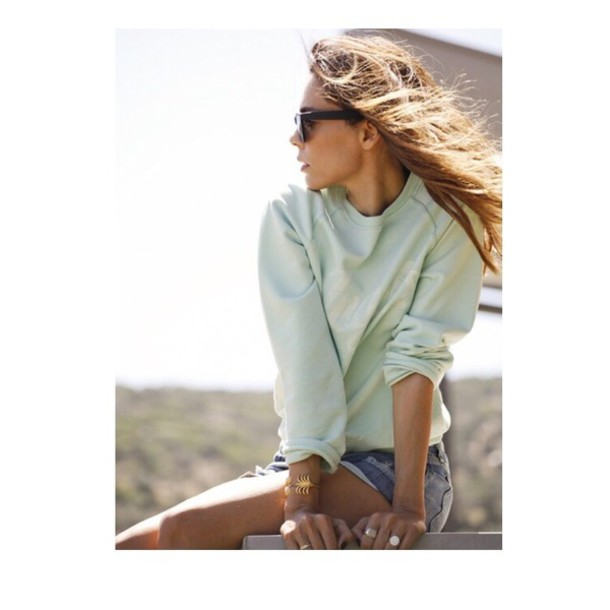 Sweater Shirt Shirtcute Cute Top Outfit Tumblr Summer Beach Ideas Long Sleeves