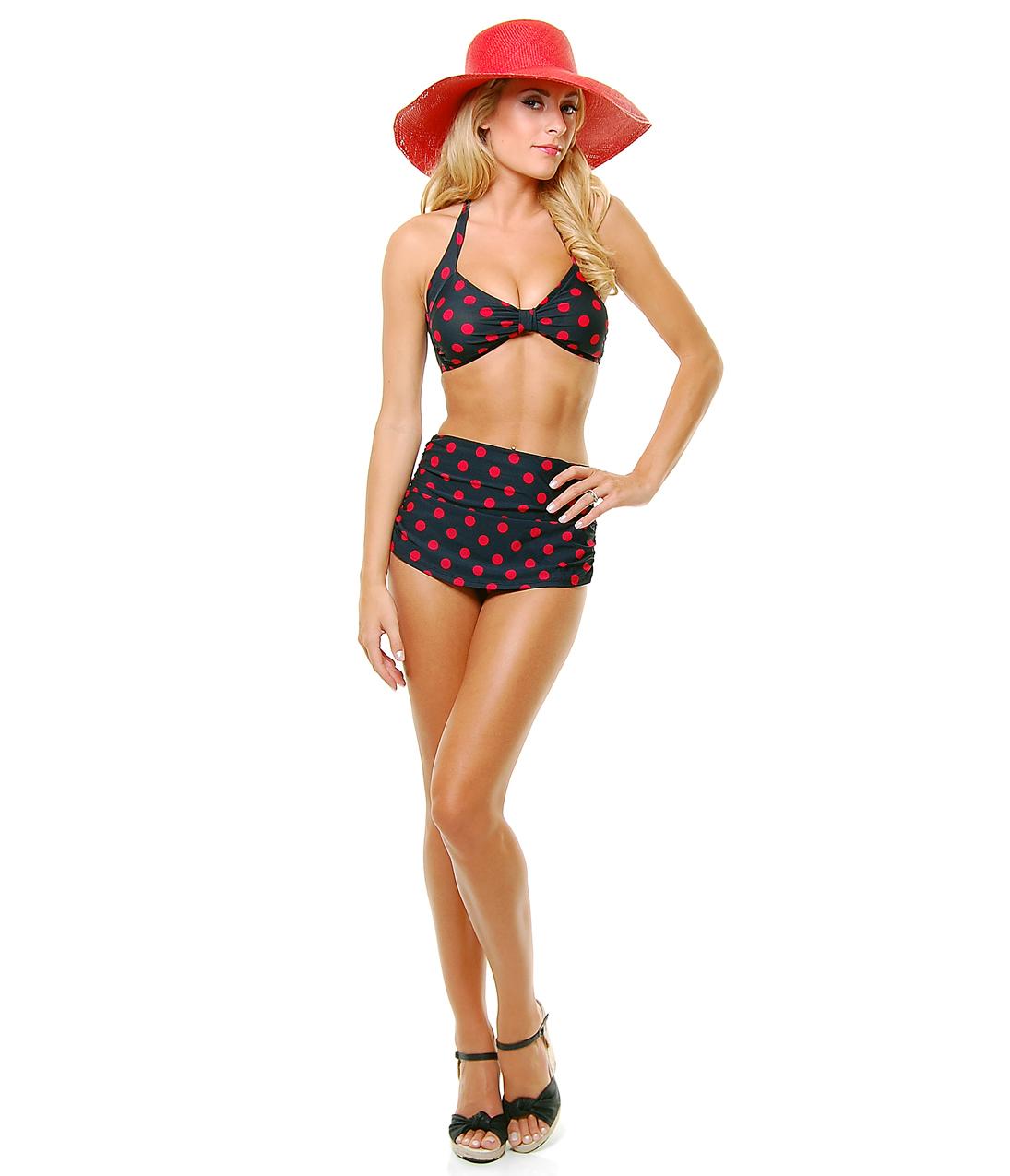 BEST SELLER! Vintage Inspired Swimsuit 50's Style Black ...