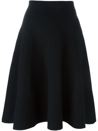skirt knit women black wool