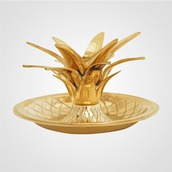 home accessory,candle,pineapple,gold,metallic home decor,thanksgiving