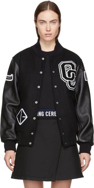 jacket bomber jacket varsity black
