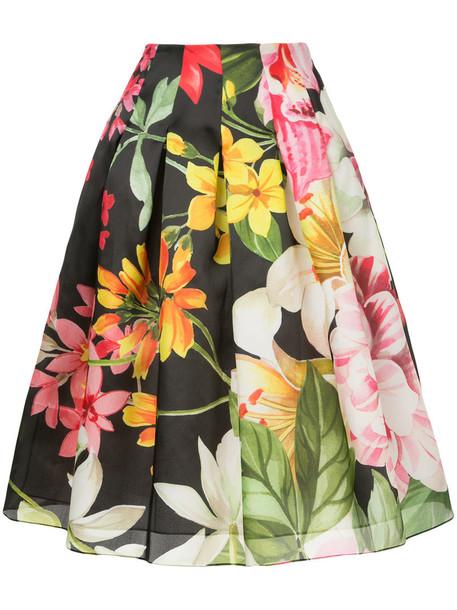 Bambah skirt midi skirt women midi black silk
