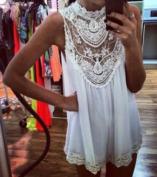 zara white fashion summer lace summer outfits top lacetop