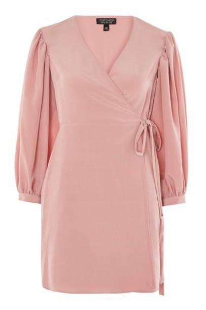 dress wrap dress blush