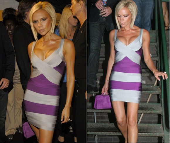dress victoria beckham sexy dress deep v neck dress