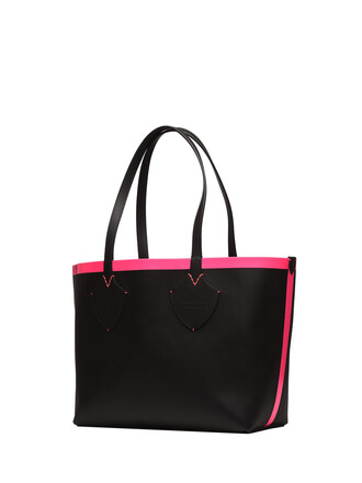 fluo black pink black and pink neon neon pink bag