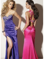 Buy Flowing A-line Floor Length Matte Satin Prom Dress under 200-SinoAnt.com