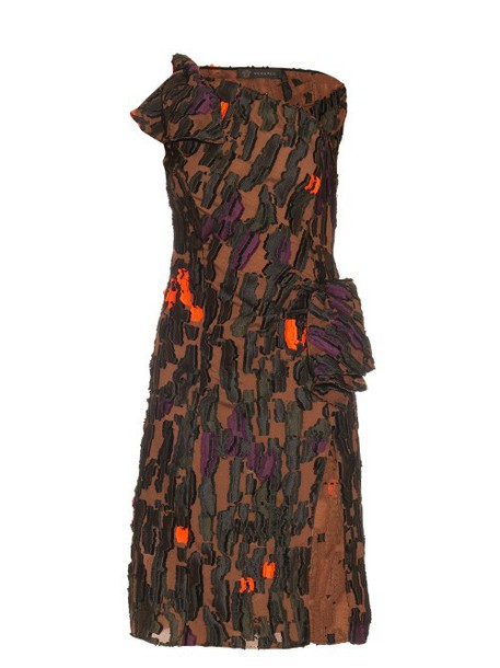 VERSACE dress camouflage khaki
