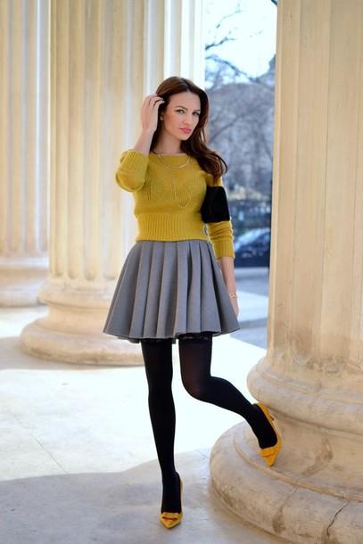 my silk fairytale sweater skirt shoes bag