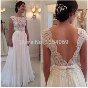 Aliexpress.com : buy sexy fitted long a line o neckline cap sleeve lace white/ivort lace/chiffon evening dress prom party dress custom made dyp218 from reliable evening dresses suppliers on roman holiday wedding dresses