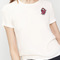White heart embroidery short sleeve t-shirt