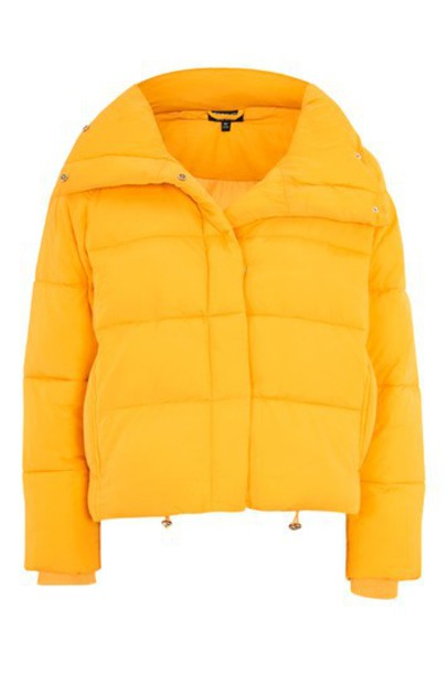 Topshop jacket puffer jacket yellow