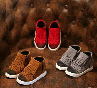 shoes sneakers grey brown dress ankle sneakers boots fringes fringe shoes