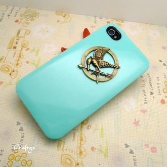 phone cover iphone turquoise the hunger games iphone case