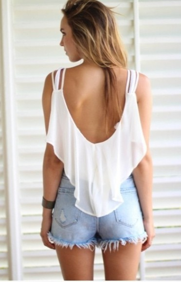 tank top crop tops top scoop back swing top