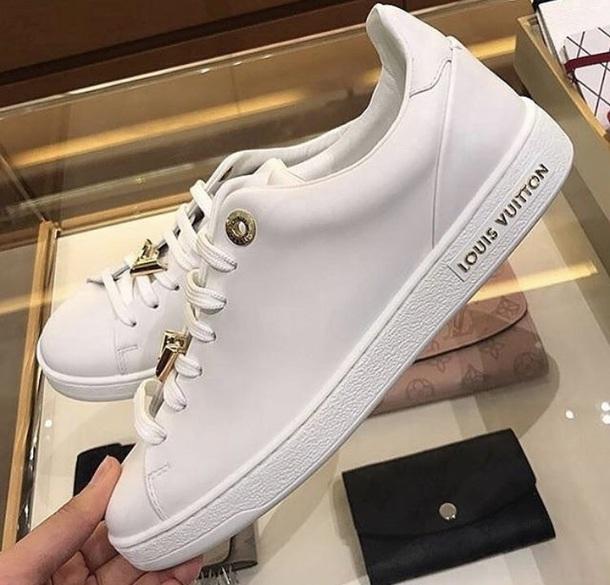 aa58878275fe shoes louis vuitton shoes white fashion gold
