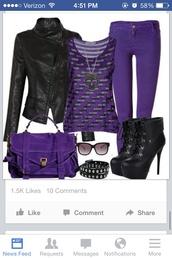 bag,purple