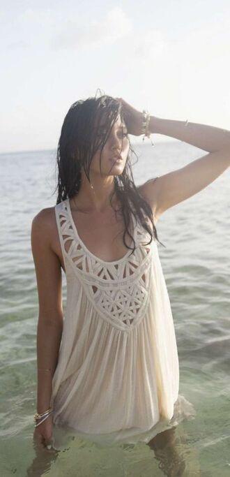 dress crochet white white dress beach dress beach california strappy