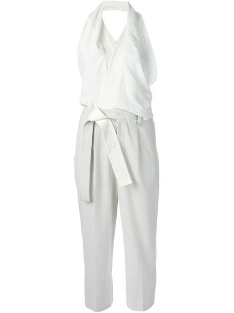 7f25d6685be jumpsuit women white cotton silk