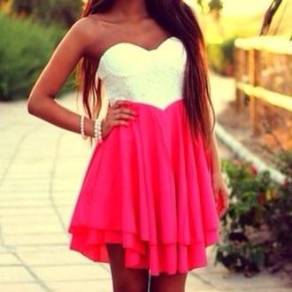 dress pink and white pink dress