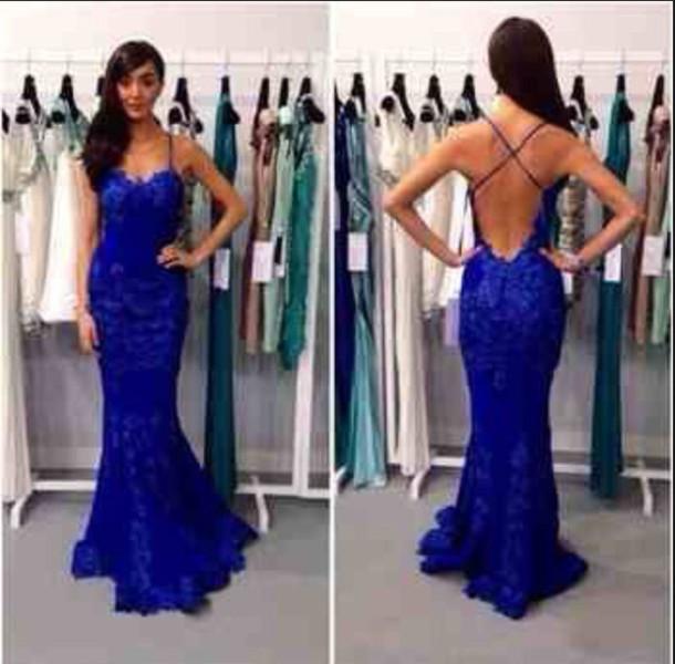 dress prom dress ball gown royal blue dress lace dress