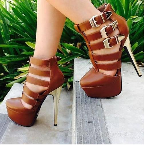 Prepossessing Cut-Outs Buckle Ankle Boots