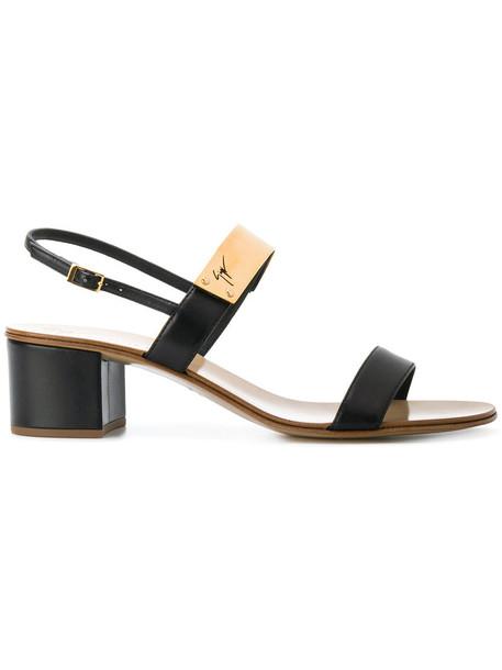 GIUSEPPE ZANOTTI DESIGN women sandals leather black shoes