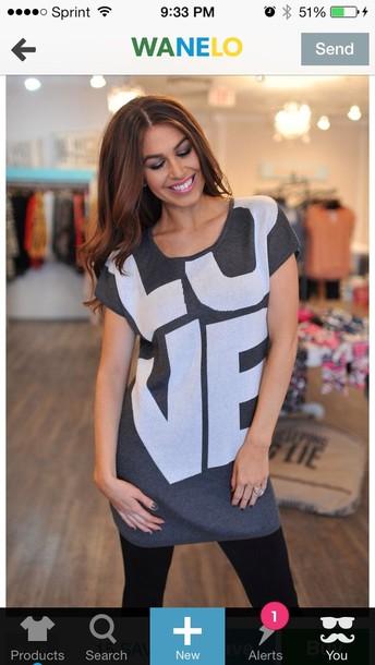 shirt love tunic