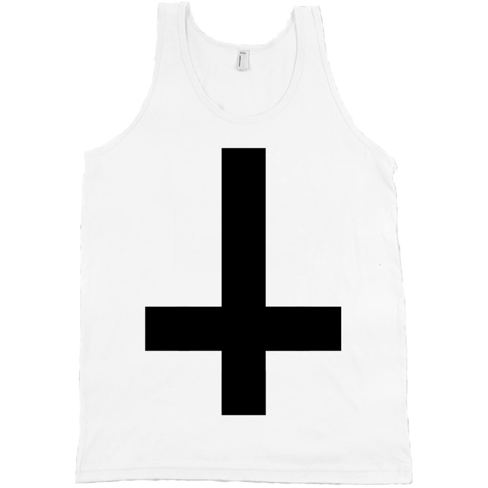 Inverted Upside Down Cross American Apparel Tank Top Odd Future Devil Wolf Gang | eBay