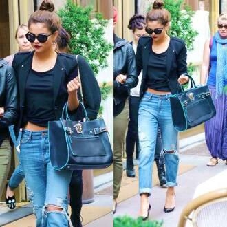 jeans boyfriend jeans selena gomez blouse jacket