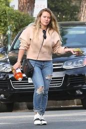 jeans,hilary duff,jeas,denim,sweater,sweatshirt