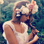 dress,girl,fairy tale,flowers,white,beautiful,dream,perfect,hipster wedding,blouse