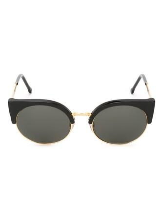 metal women sunglasses black