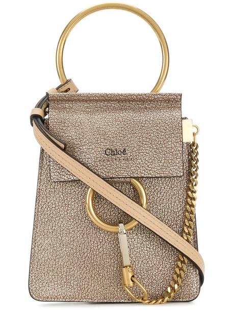 Chloe women bag leather yellow orange