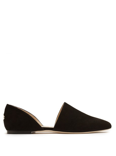 Jimmy Choo flats suede black shoes