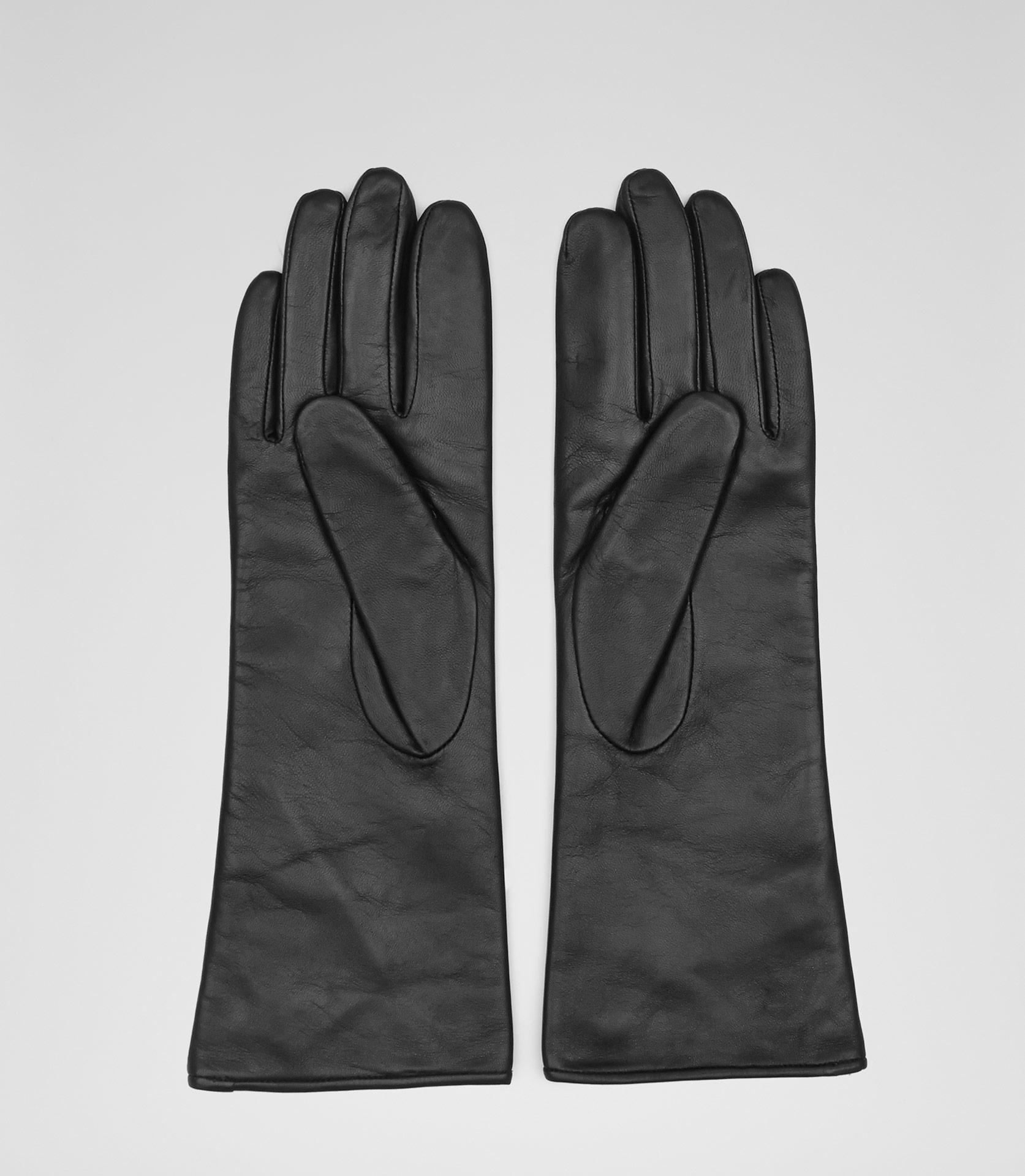 Fingerless gloves h m - Zinnia Black Long Leather Gloves Reiss