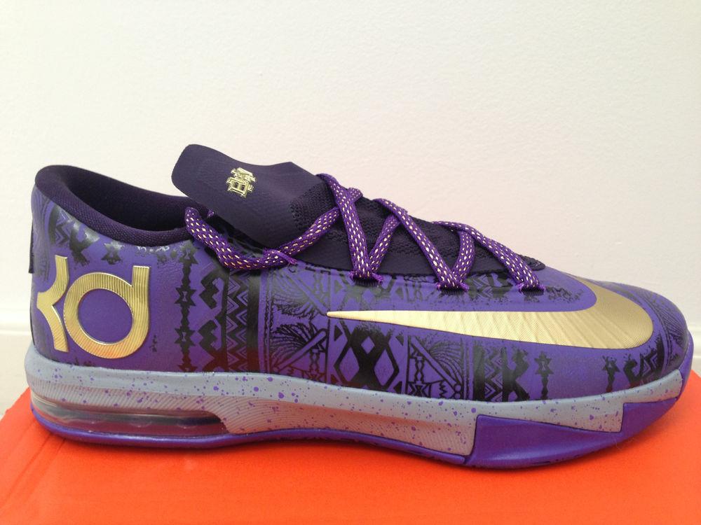 Nike KD VI 6 Black History Month BHM Purple Gold Venom Kid GS Sz 5 5 5 6 6 5 7 Y | eBay