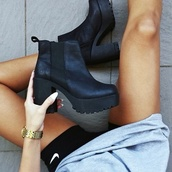 shoes,chunky boots,ankle boots,black,matte,windsor smith,heels,lipstick shoes