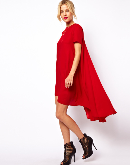 New Arrival 2014 Women Red Cocktail Dresses Irregualer Summer Party Evening Elegant Bershka-in Apparel & Accessories on Aliexpress.com