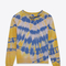 Saint laurent destroyed sweatshirt in yellow and blue tie dyed french terrycloth | ysl.com