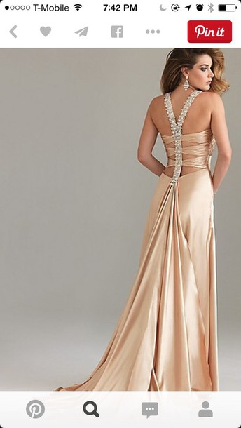 dress prom dress prom gown april champagne dress sexy dress backless dress backless prom dress style