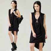 dress,angl,shop angl,angl clothing,black hoodie,2-in-1 dress,hoodie dress,acid wash,mineral wash,black,grunge