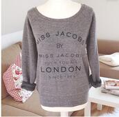 sweater,jacobs,cozy,grey,london,fck you all