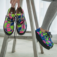 Lips canvas platform shoes · cute harajuku {street fashion} · online store powered by storenvy