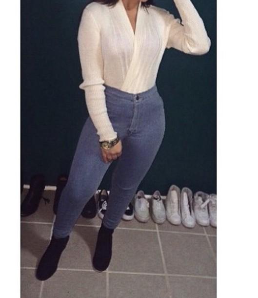 classy nice vintage skinny jeans pants