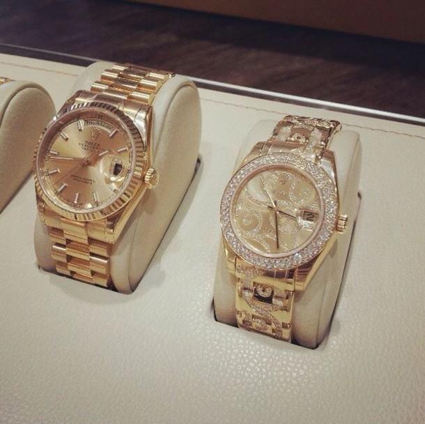 jewels rolex gold watch
